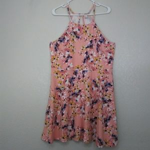 Mossimo pink/poach floral dress